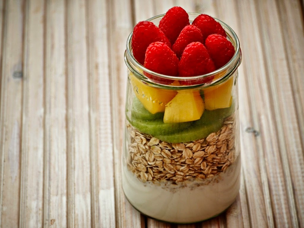 Overnight Oats met vers fruit