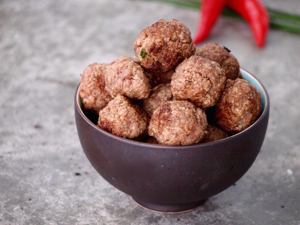 Aziatische gehaktballetjes met 5-spice