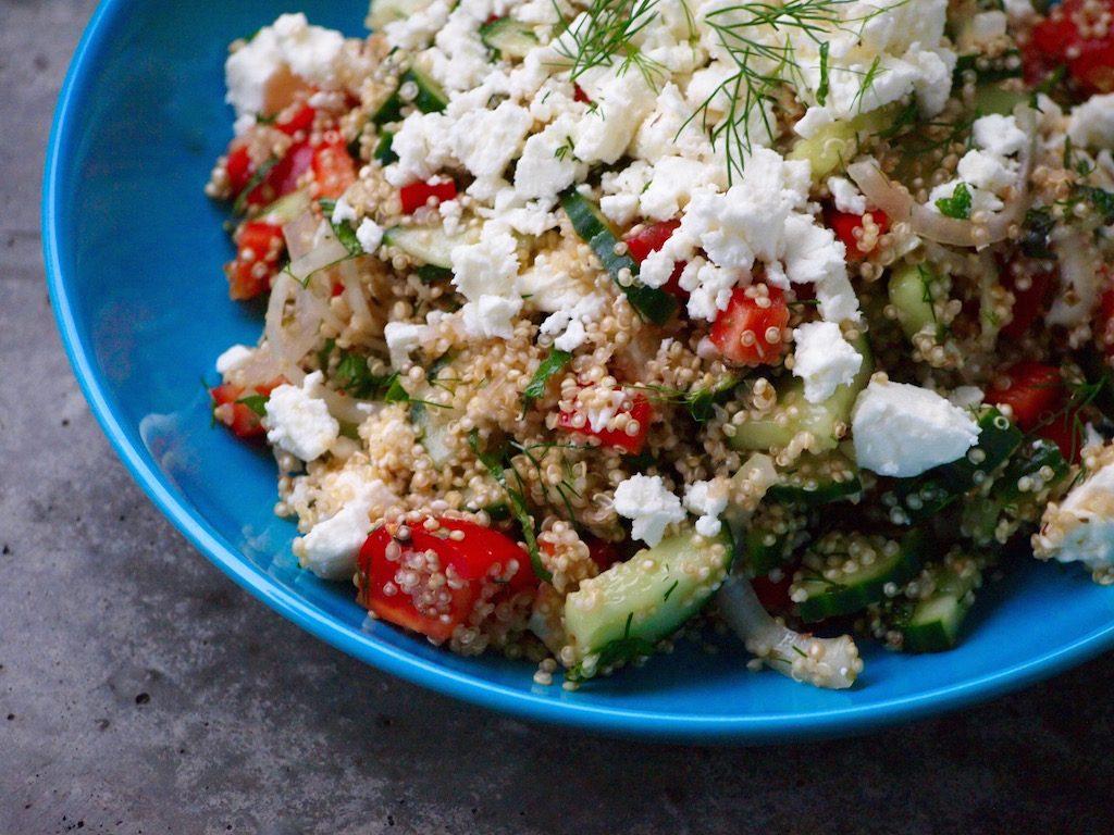 Griekse maaltijdsalade met Quinoa
