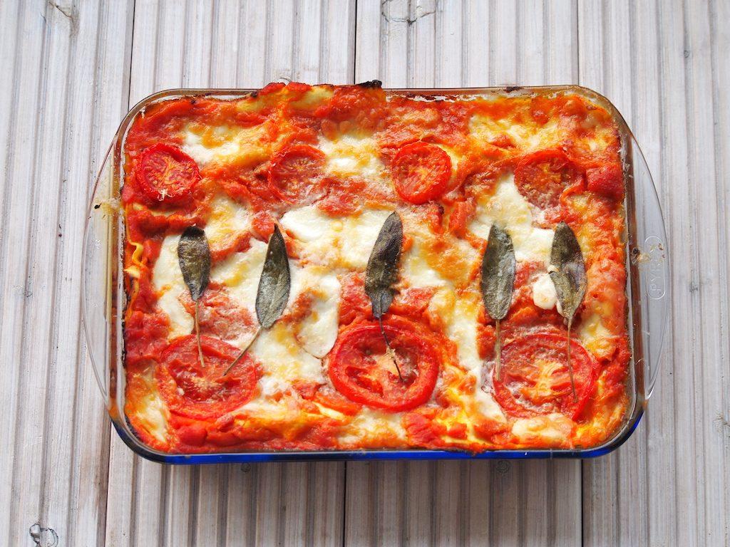 Lasagne met pompoen en salie