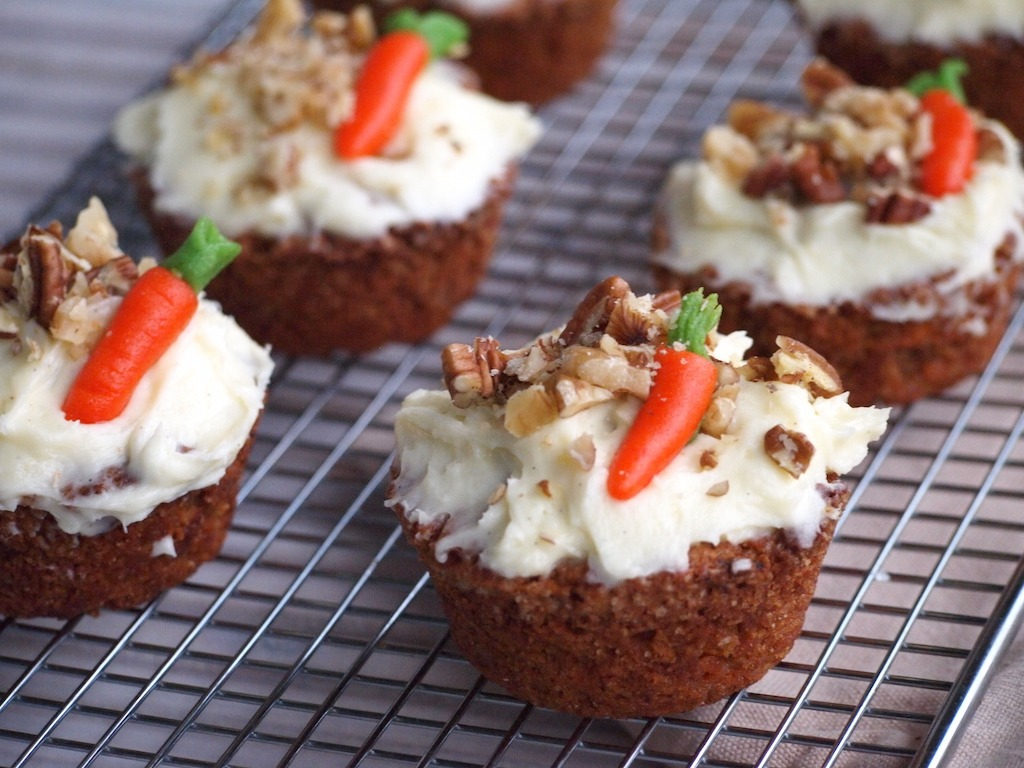 Simpele Worteltaart Cupcakes