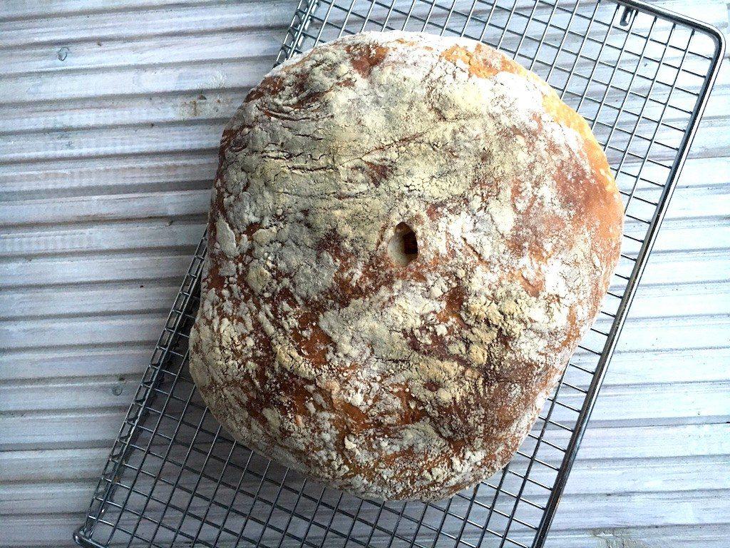 Vers brood zonder kneden