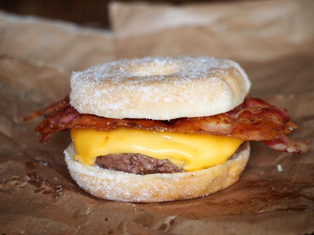 Donut Burger! Doe eens gek