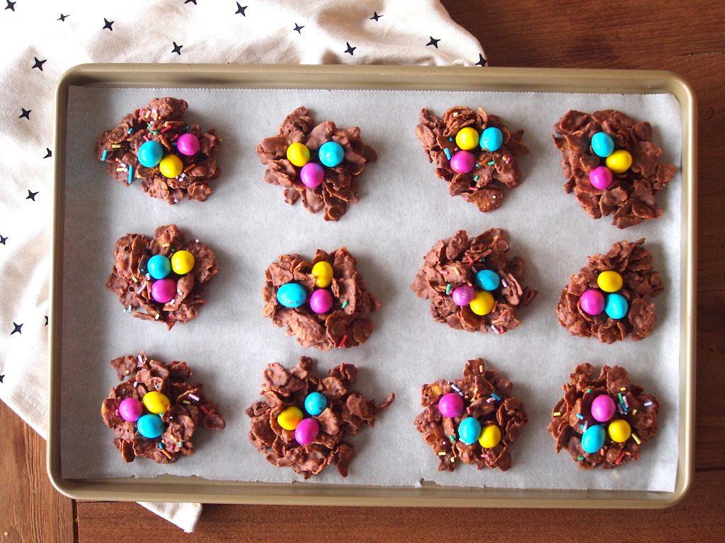 Schattige chocolade nestjes | Leuk voor Pasen!