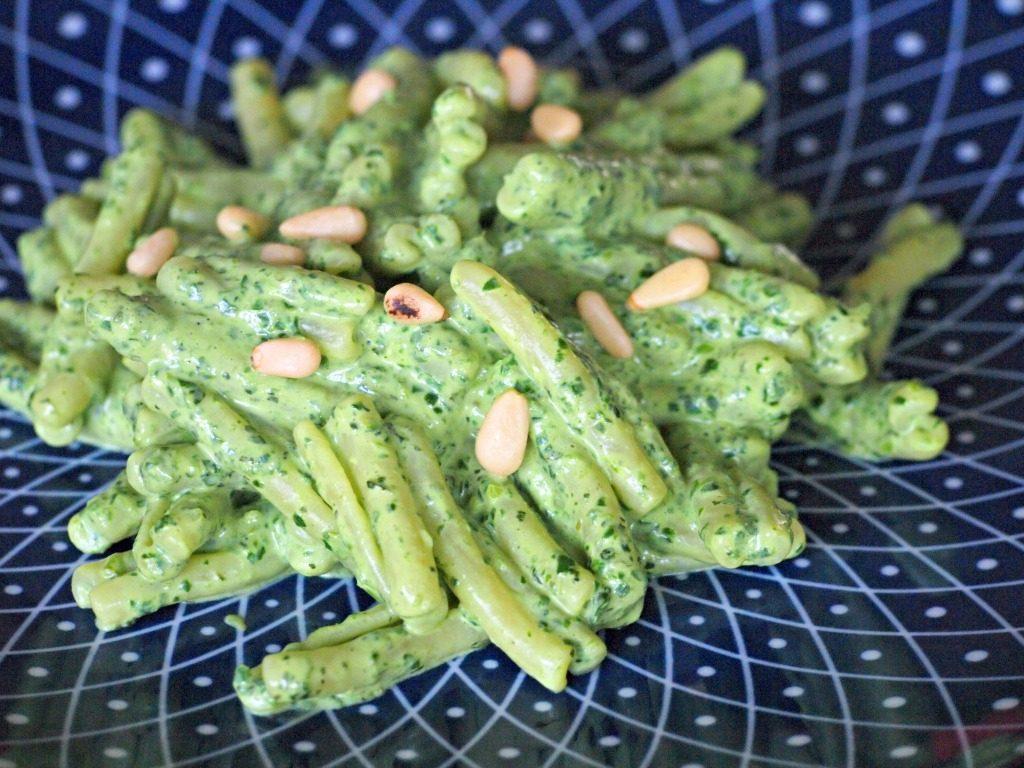 Pasta met groene saus! (spinazie, munt, ricotta)