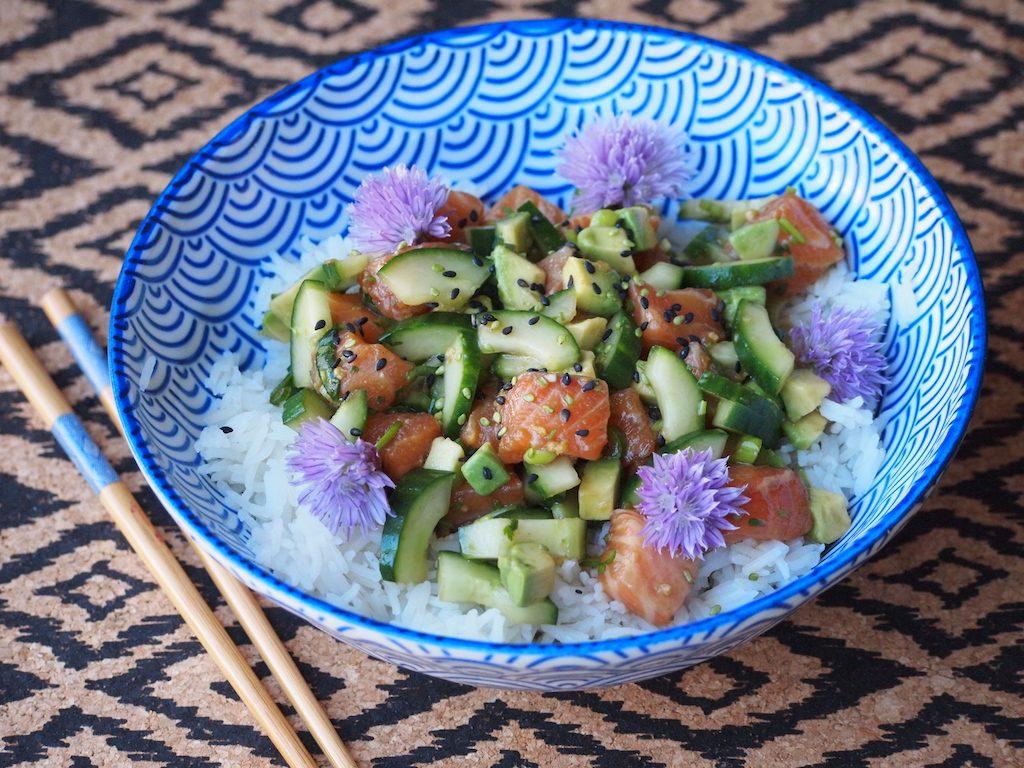 Zalm Avocado Poké Bowl