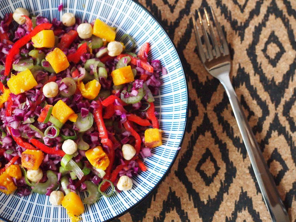 Herfstige coleslaw met pompoen
