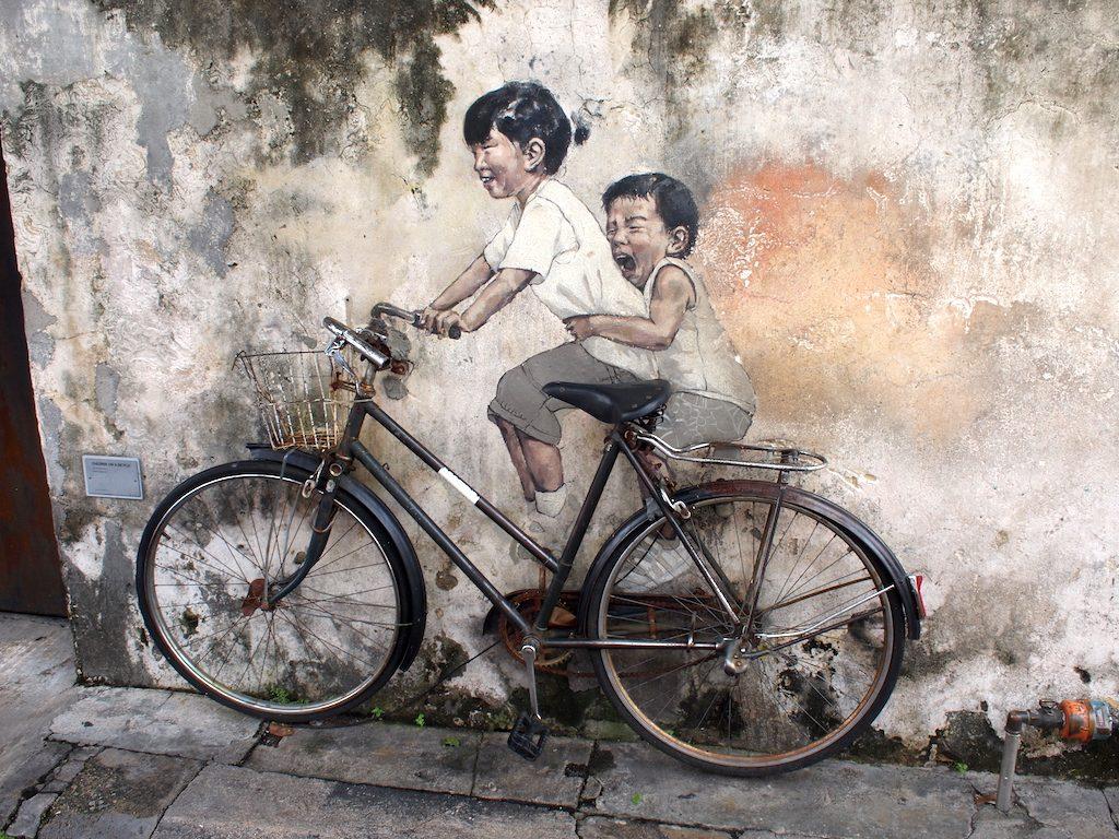 Street art George Town: net even anders