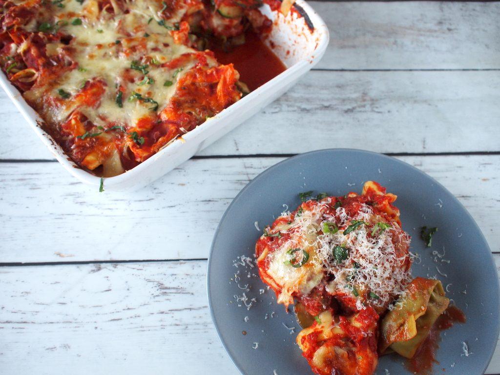 Tortellini lasagne; simpel maar anders