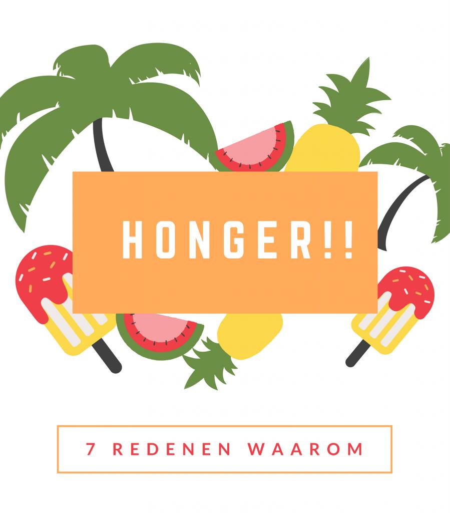 7 redenen waarom je honger hebt