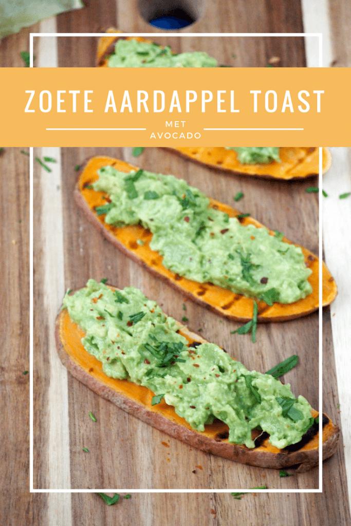 Zoete aardappel toast met Avocado | LEKKER LUNCHEN