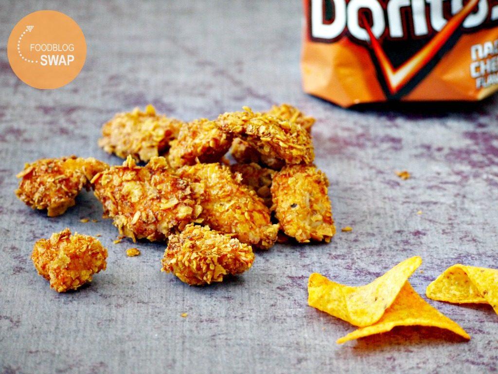 Knapperige kipnuggets met een korst van Doritos