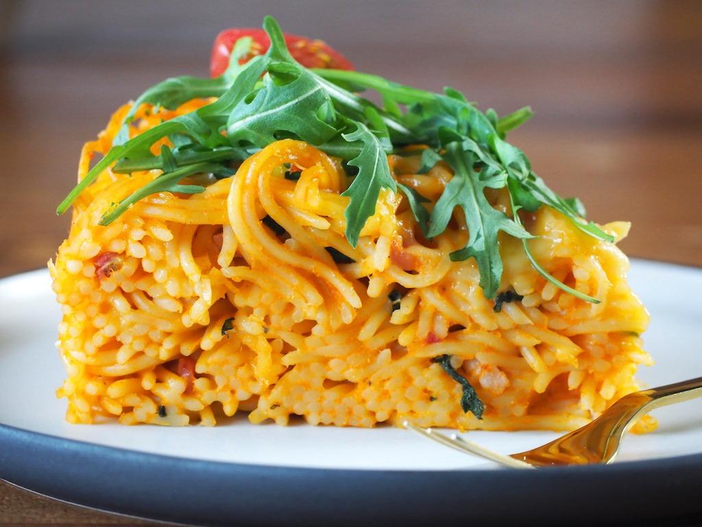 Spaghetti Taart (pasta frittata)
