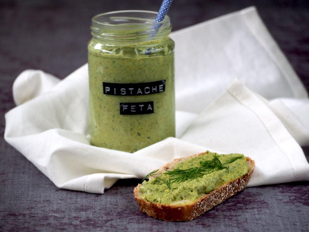 Goddelijke pistache feta dip