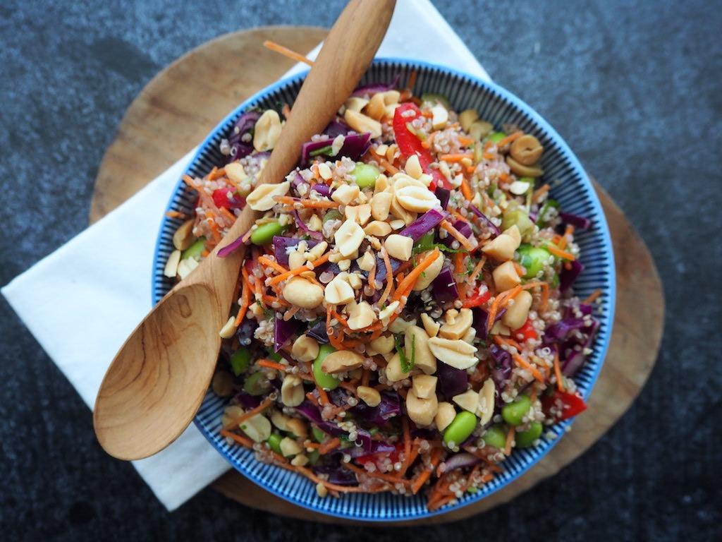 Thaise quinoa salade bomvol kleur