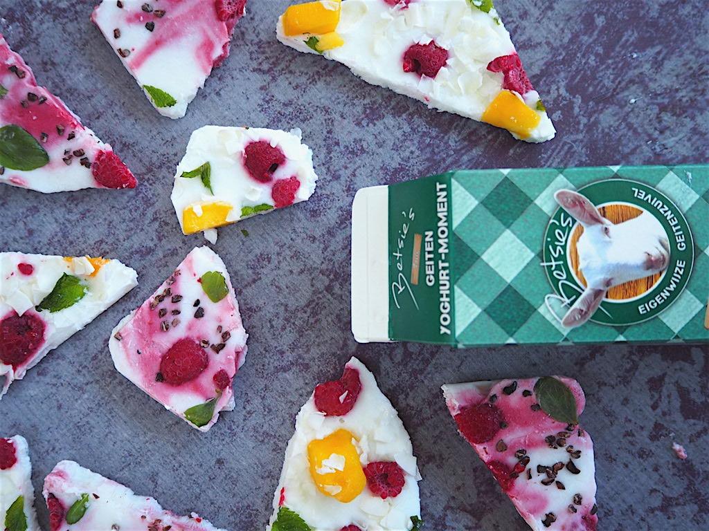 Gezonde snack: Yoghurt Bark met geitenyoghurt