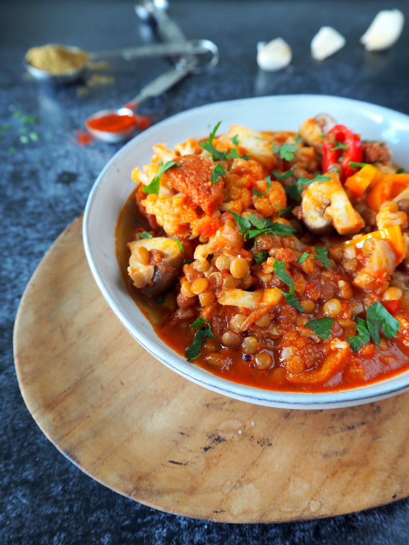 Heerlijk verwarmende linzen-chorizo stoofpot