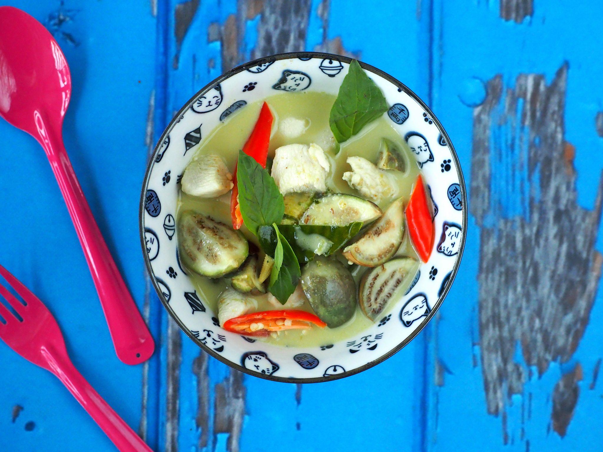 Thaise groene curry met authentieke ingrediënten