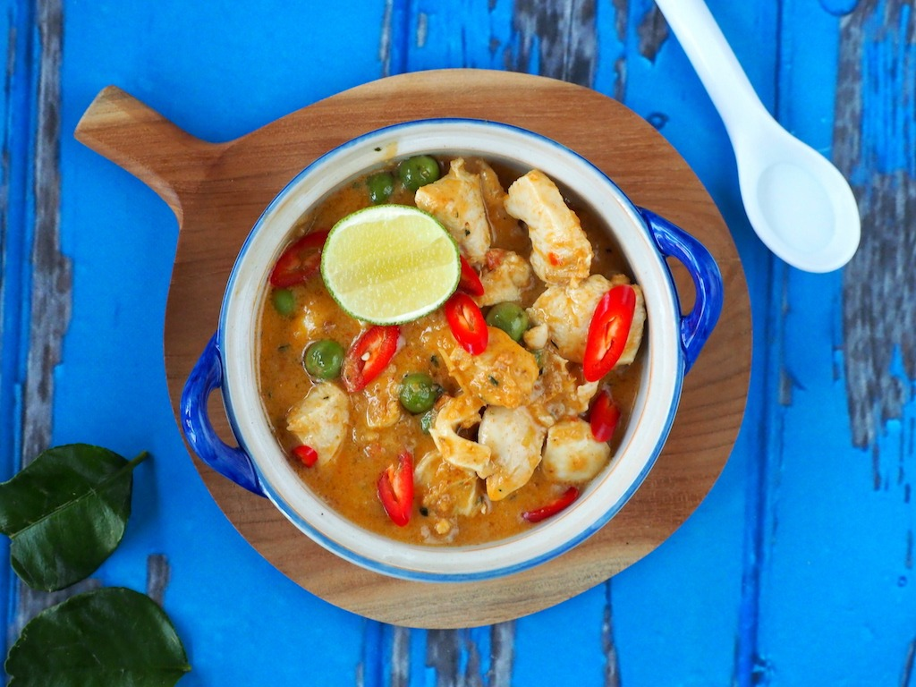 Authentieke Thaise Panang Curry met kip