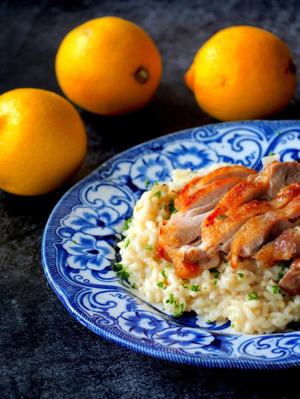 Citroen risotto met kip