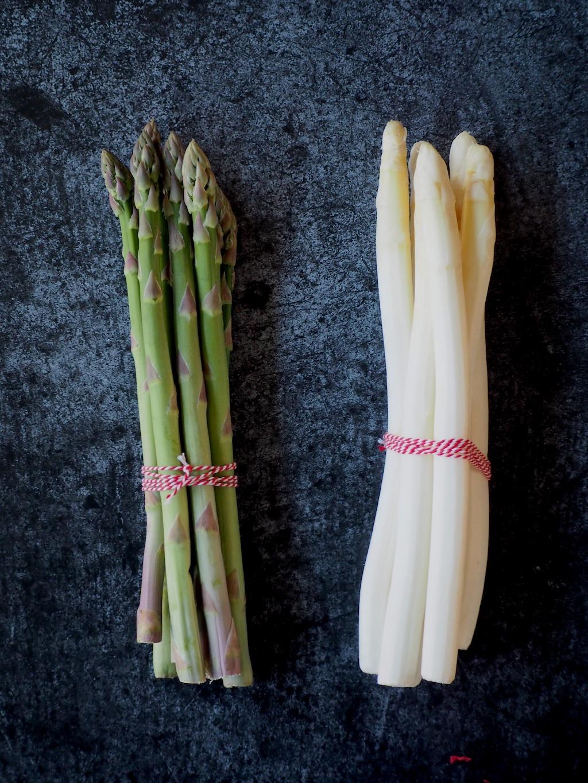 Verschil witte en groene asperges
