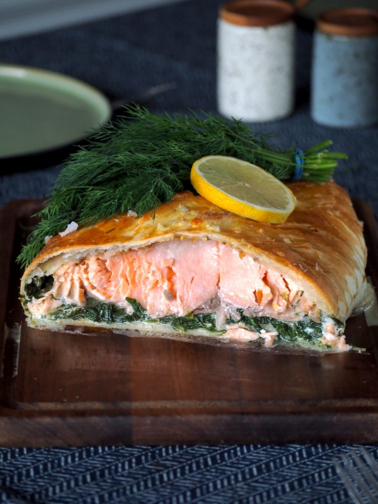 Zalm Wellington (zalm in bladerdeeg)