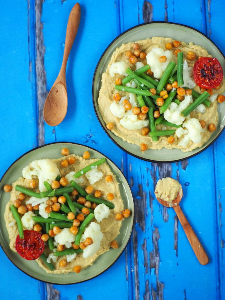 Thaise hummus met groente