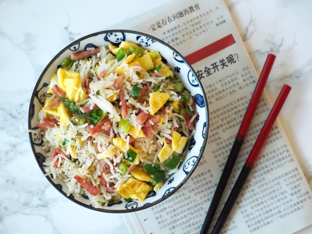 Chinese Nasi met Char Siu lapjes