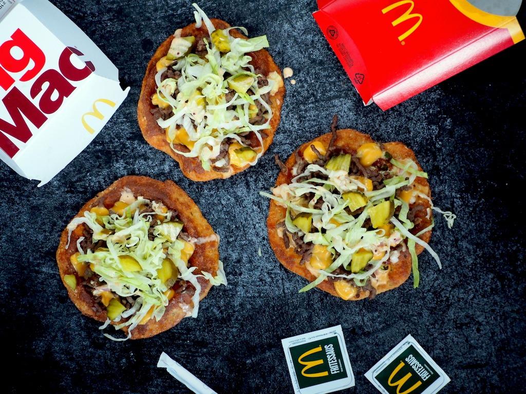 Koolhydraatarme Big Mac Pizza's