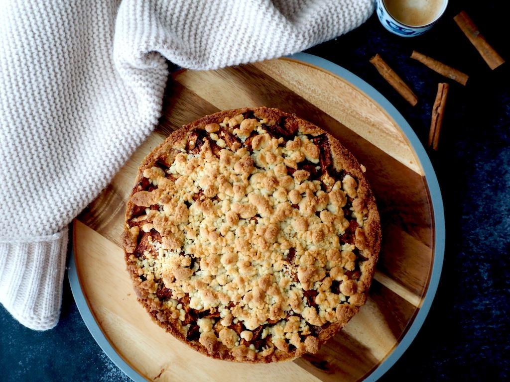 Appelkruimeltaart recept zonder fratsen